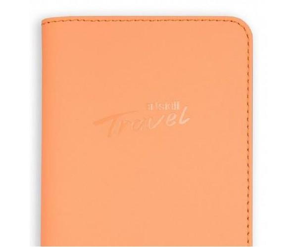 Кожаный холдер Travel (персиковый)